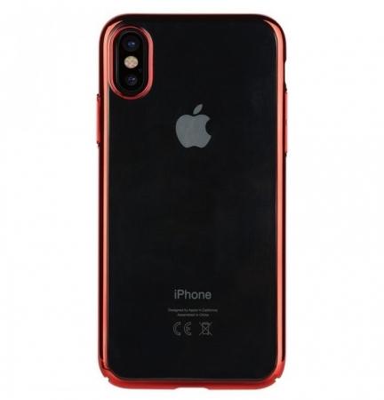 Husa Benks iPhone X Electroplated Rosu pentru iPhone X0