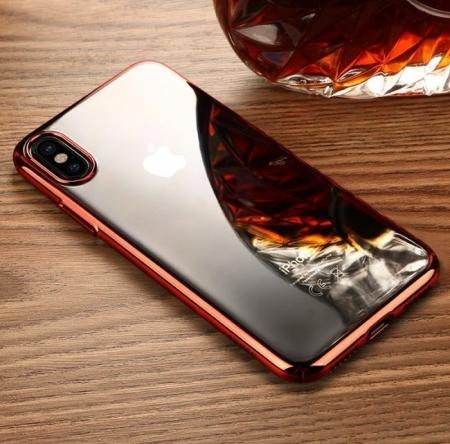 Husa Benks iPhone X Electroplated Rosu pentru iPhone X3