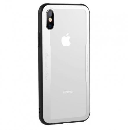Husa Benks Shiny Glass Alb pentru iPhone X0