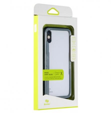 Husa Benks Shiny Glass Alb pentru iPhone X4