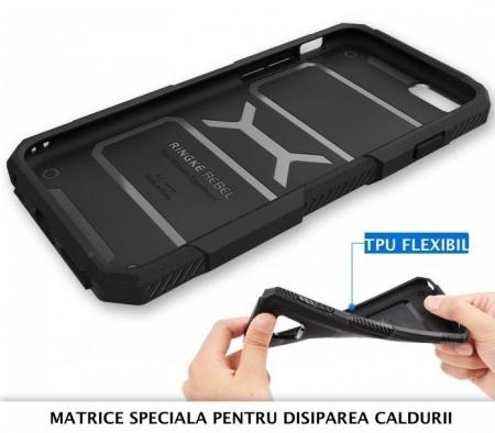 Husa Ringke REBEL BLACK + folie Ringke cadou pentru iPhone 6 Plus / 6s Plus5