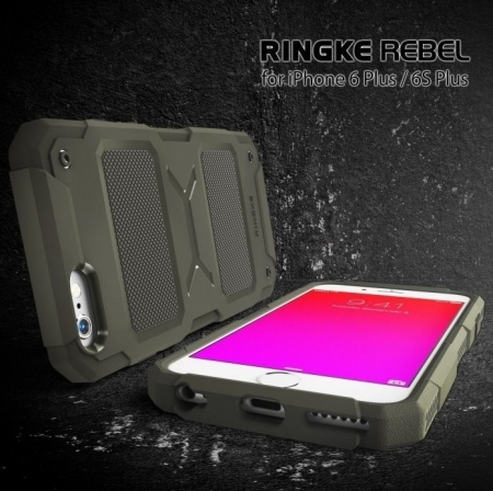 Husa Ringke REBEL BLACK + folie Ringke cadou pentru iPhone 6 Plus / 6s Plus4