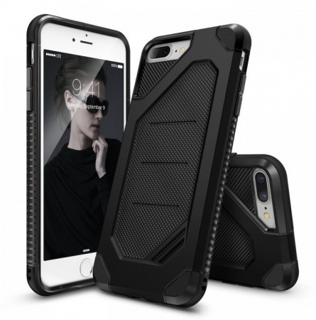 Husa Ringke ARMOR MAX NEGRU + BONUS folie protectie display Ringke pentru iPhone 7 Plus / iPhone 8 Plus0