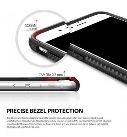 Husa Ringke ARMOR MAX NEGRU + BONUS folie protectie display Ringke pentru iPhone 7 Plus / iPhone 8 Plus2