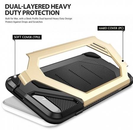 Husa Ringke ARMOR MAX NEGRU + BONUS folie protectie display Ringke pentru iPhone 7 Plus / iPhone 8 Plus3