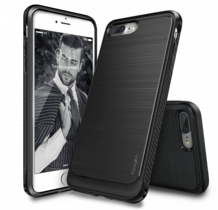 Husa Ringke ONYX BLACK + BONUS folie protectie display Ringke pentru iPhone 7 Plus / iPhone 8 Plus0