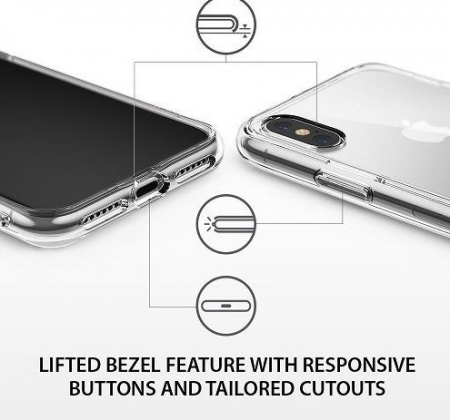 Husa Ringke Fusion Clear pentru iPhone X5