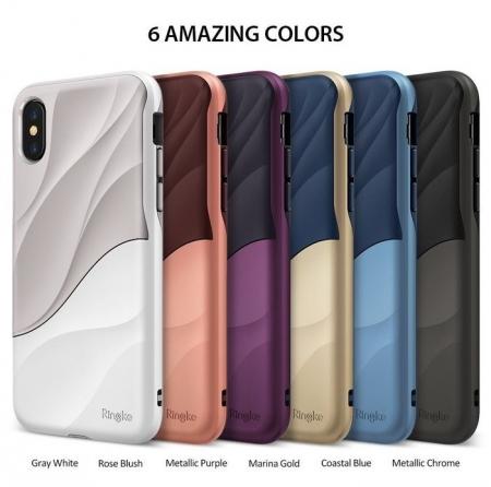 Husa Ringke Wave Rose Blush pentru iPhone X8