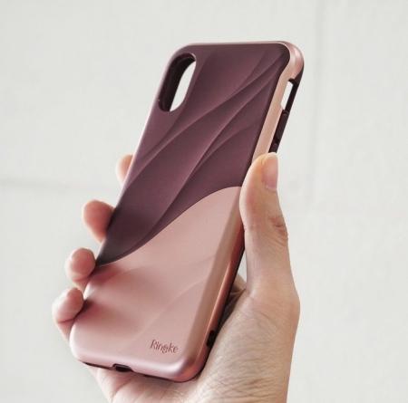 Husa Ringke Wave Rose Blush pentru iPhone X2