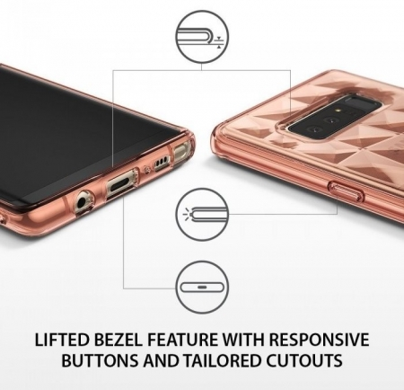Husa Ringke Prism Rose Gold pentru Samsung Galaxy Note 83
