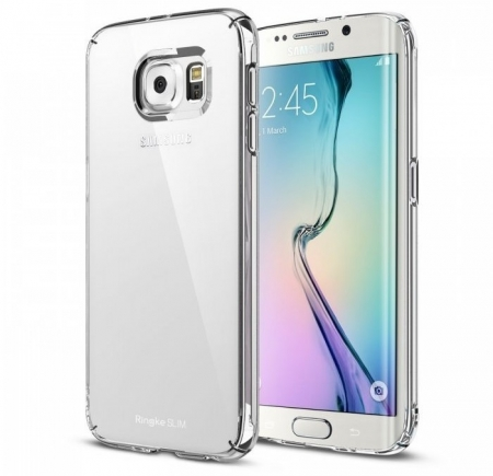 Husa Ringke SLIM CRYSTAL TRANSPARENT+BONUS folie protectie display Ringke pentru Samsung Galaxy S6 Edge Plus0