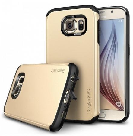 Husa Ringke ARMOR MAX ROYAL GOLD+BONUS folie protectie display Ringke pentru Samsung Galaxy S60