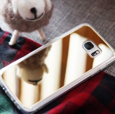Husa Ringke MIRROR SILVER + BONUS folie protectie display Ringke pentru Samsung Galaxy S61