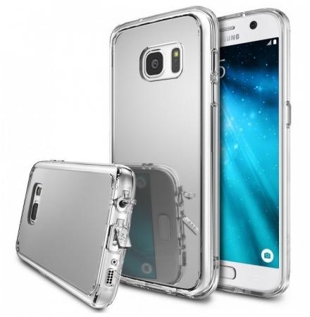 Husa Ringke MIRROR SILVER + BONUS folie protectie display Ringke pentru Samsung Galaxy S60