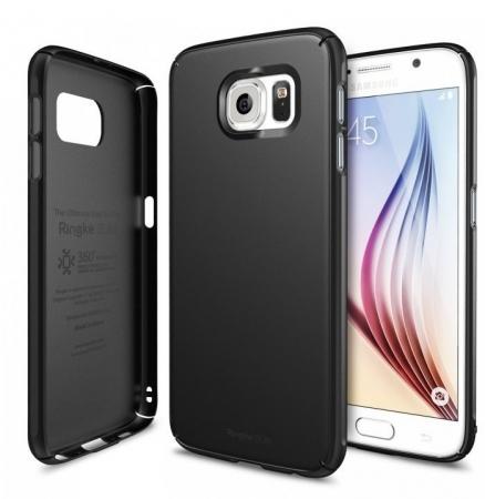 Husa Ringke SLIM SF BLACK+BONUS folie protectie display Ringke pentru Samsung Galaxy S60