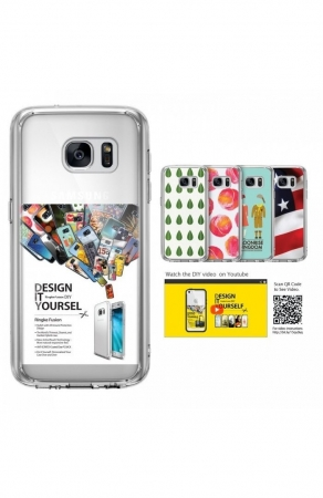 Husa Ringke FUSION ROSE GOLD + BONUS folie protectie display pentru Samsung Galaxy S76
