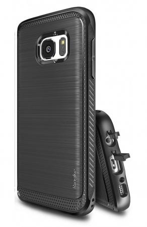 Husa Ringke ONYX BLACK + folie Ringke cadou pentru Samsung Galaxy S71