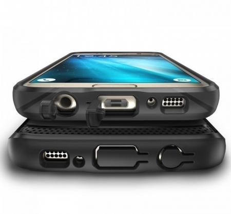 Husa Ringke ONYX BLACK + folie Ringke cadou pentru Samsung Galaxy S73