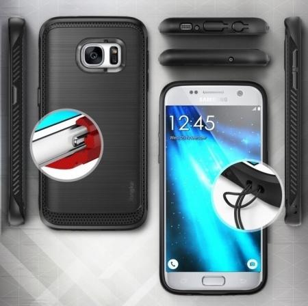 Husa Ringke ONYX BLACK + folie Ringke cadou pentru Samsung Galaxy S74