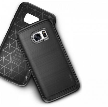 Husa Ringke ONYX BLACK + folie Ringke cadou pentru Samsung Galaxy S75