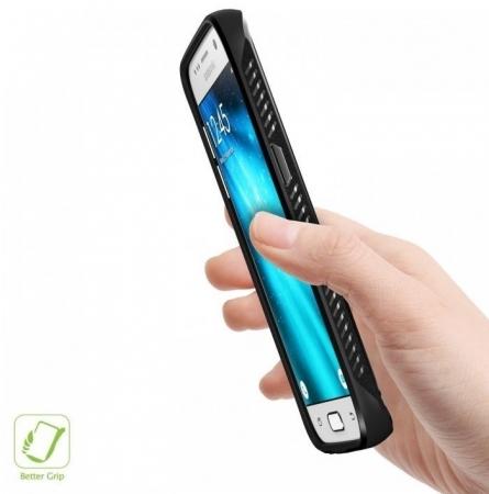 Husa Ringke ONYX BLACK + folie Ringke cadou pentru Samsung Galaxy S76