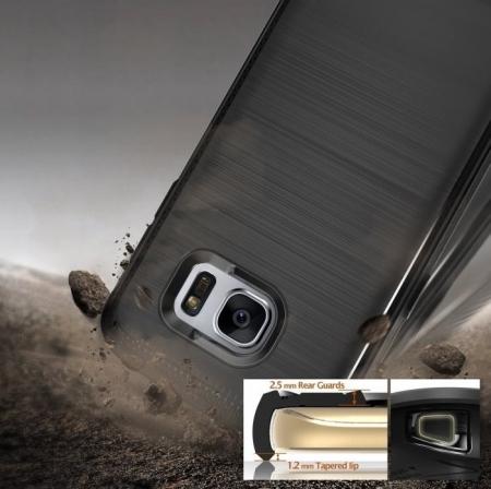 Husa Ringke ONYX BLACK + folie Ringke cadou pentru Samsung Galaxy S78