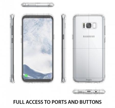 Husa Ringke Fusion Smoke Black pentru Samsung Galaxy S8 Plus3