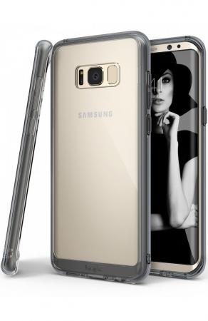 Husa Ringke Fusion Smoke Black pentru Samsung Galaxy S8 Plus0
