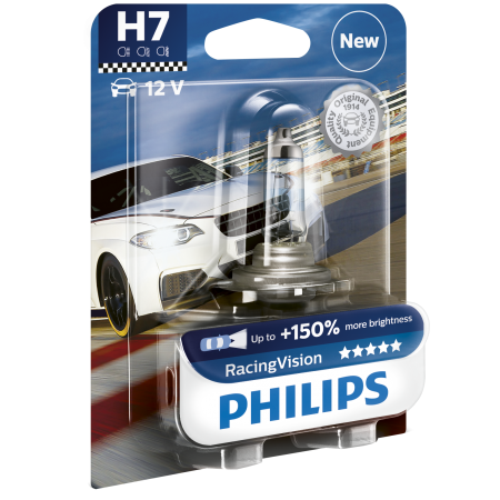 Bec auto Philips H7 Philips Racing Vision, +150%, 12V 55W