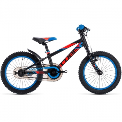 BICICLETA CUBE KID 160 Black Flashred Blue 2018