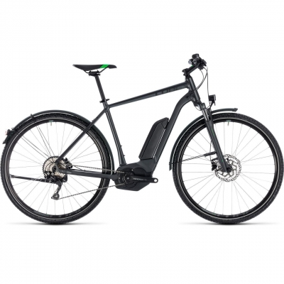 BICICLETA CUBE CROSS HYBRID PRO ALLROAD 400 Grey Flashgreen 2018
