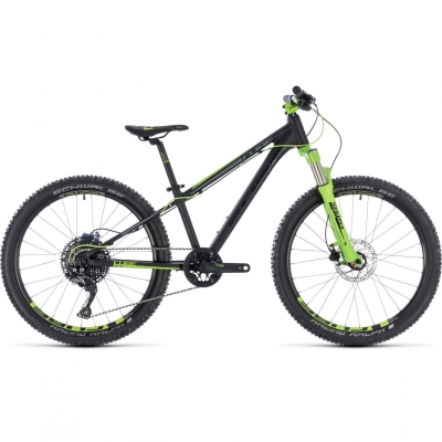 BICICLETA CUBE KID 240 SL Black Green 2018