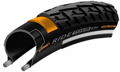 Anvelopa Continental Ride Tour Puncture-ProTection  37-622 (28*1 3/8*1 5/8) negru/maro