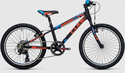 BICICLETA COPII CUBE KID 200 Black Flashred Blue 2017