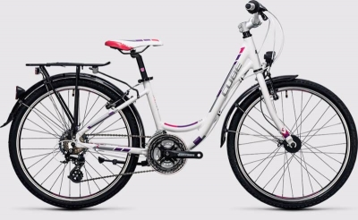 BICICLETA COPII CUBE KID 240 STREET White Purple 2017