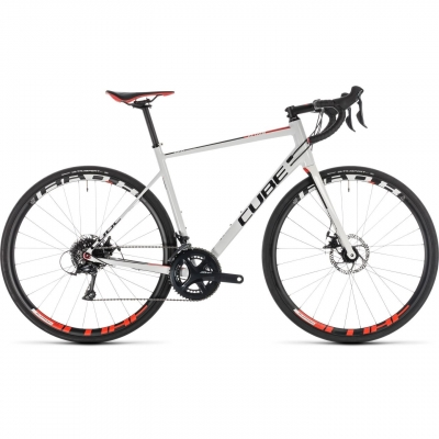 BICICLETA CUBE ATTAIN PRO DISC White Red 2019