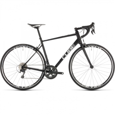 BICICLETA CUBE ATTAIN RACE Black White 2019