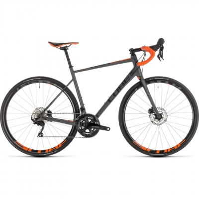BICICLETA CUBE ATTAIN SL DISC Grey Orange 2019