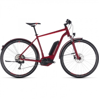 BICICLETA CUBE CROSS HYBRID PRO ALLROAD 400 Darkred Red 2018