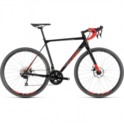 BICICLETA CUBE CROSS RACE Black Red 2019
