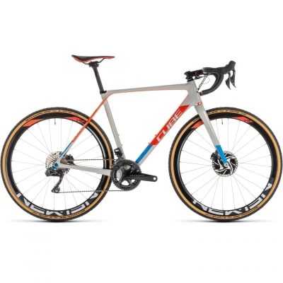 BICICLETA CUBE CROSS RACE C:62 SLT Grey Red 2019