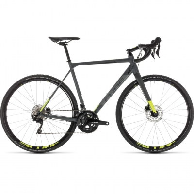BICICLETA CUBE CROSS RACE PRO Grey Flashyellow 2019