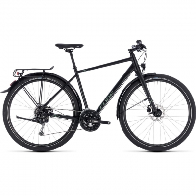 BICICLETA CUBE TRAVEL Black Green 2018