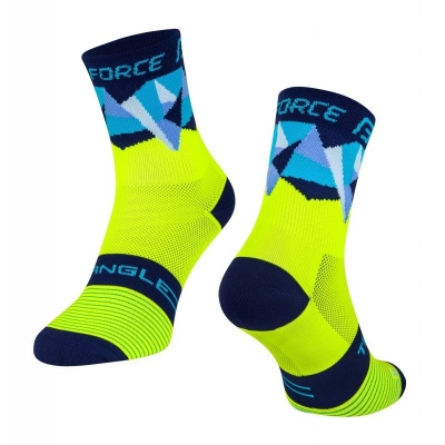 Sosete Force Triangle fluo/albastre L-XL