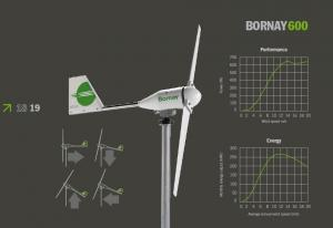 Bornay wind turbine 600 W 12V 2 blades with digital controller B600/122