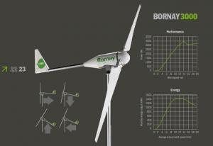 Bornay wind turbine 3000 W 48V 2 blades and digital controller B3000/483