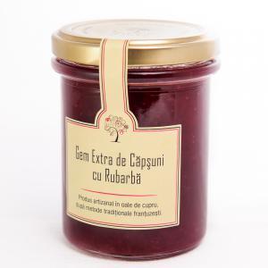 Gem de Capsuni cu Rubarba 230g - Les saveurs d'Yveline