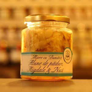 Miere cu alune migdale nuca 200g - Prisaca Transilvania