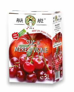 Suc de mere si visine 100% natural 3L - Ana are