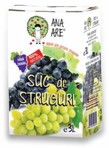 Suc de struguri  100% natural 3L - Ana are